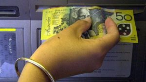 money stuck
